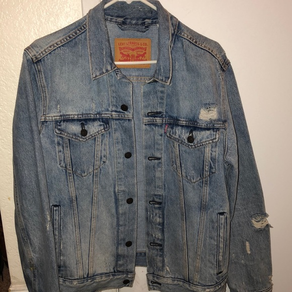 Ripped Levi's denim jacket
